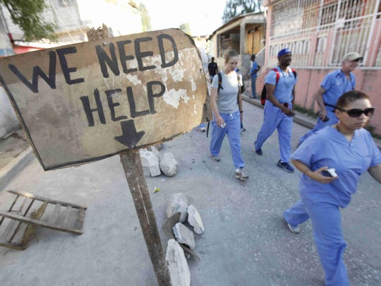 The Delaware Medical Relief Team was among the groups that went to  help Haiti after the 2010 earthquake.