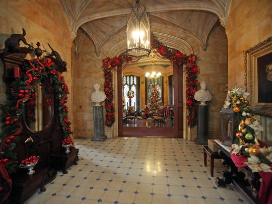 The entryway at Lyndhurst mansion in Tarrytown