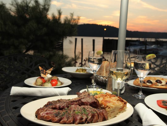 Waterfront dining at Harvest on Hudson in Hastings-on-Hudson.