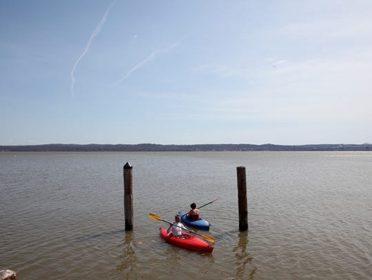 There are opportunities to kayak on the Hudson River