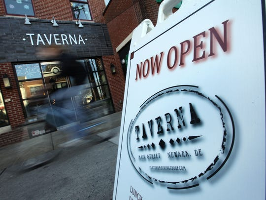 Taverna Restaurant on Main Street in Newark opened in 2012.