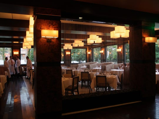 The dining room at Sear House, a new, 220-seat modern steakhouse in Closter.