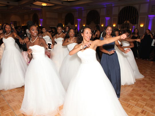 The young women presented during the Jack and Jill Black and White Gala Nov. 18 dance for the guests.