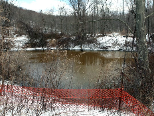 The pond of the Peter's Mine pit as seen on March 20, 2013. Work is expected to begin at this off-limits cleanup site at the end of Peters Mine Road in Ringwood in 2019.