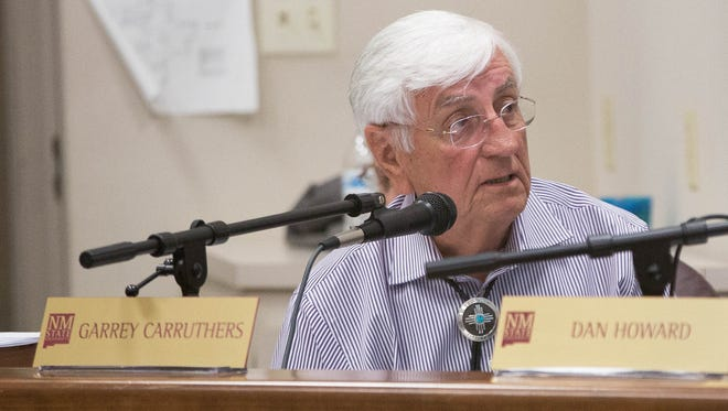 New Mexico State University Chancllor Garrey Carruthers announced Thursday Aug.3, 2017 that he would be retiring in July of 2018 after fulfilling his contract to the University. Carruthers shown here during a regents meeting earlier in 2017.