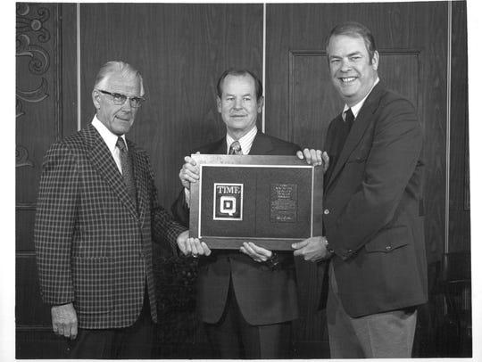 Feb. 1, 1973: Maynard W. (Left) was the  president