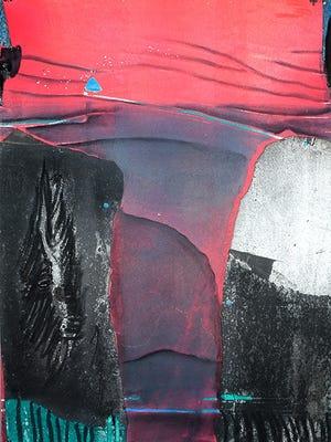 """Earth Chasm,"" a mononprint by Patricia Daughton."