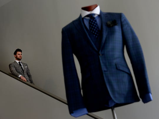 Stephen Richards sells custom men's clothing at his
