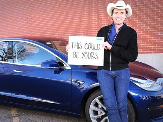 Elon Musk's younger brother, Kimbal Musk, is raffling off his personal Tesla to raise money for Big Green, an initiative to put learning gardens in schools across America.