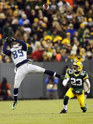 In a NFL moment on Dec. 11 featuring two Pensacola prep stars, Seattle Seahawks receiver Doug Baldwin's leaping attempt caroms into hands of PHS grad and Packers cornerback Damarious Randall for one of Randall's team-high three interceptions this season.