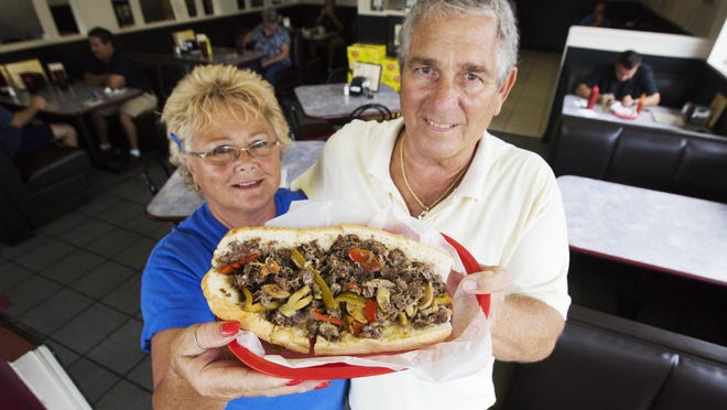 Kathie and Lou Fine are owners of Philly Junction at the intersection of Colonial Boulevard and Summerlin Parkway. Their Philly cheese steak sandwich was voted best sandwich by The News-Press readers.