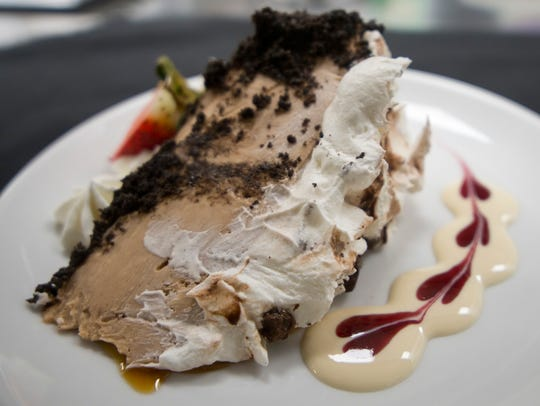 The peanut butter pie is also one of the artsiest pieces