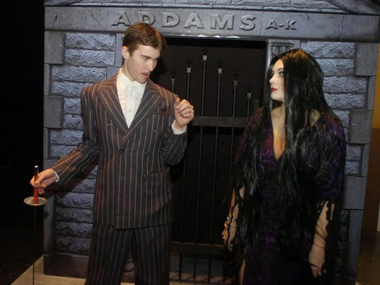 Gomez (Zack Heger) and Morticia (Rachel McCracken) bring their own blend of creepy and kooky to the stage.