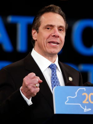 Gov. Andrew Cuomo delivers his State of the State address and executive budget proposal Wednesday at Empire State Plaza Convention Center in Albany.