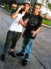 Abdiel Vazquez-Soto, 19, left, and Angel Berrios, 21, the day they were shot on Saturday June 13, 2015.