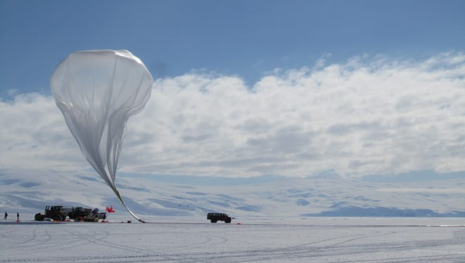 A Project Loon balloon produced by Raven Industries Inc.