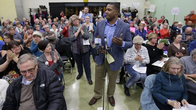 Terrance Warthen, of Kenosha spoke out against what he said were efforts to suppress voting and make it more difficult for people to cast their ballots. He said when he was born in 1975 in Virginia he was the first of his family to grow up with the right to vote.