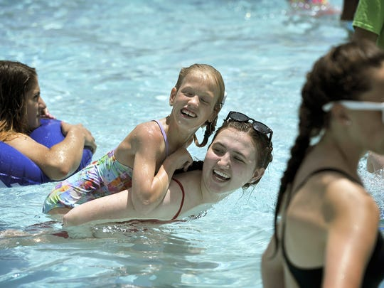 Owen Pool, enjoyed here by campers with First Shine