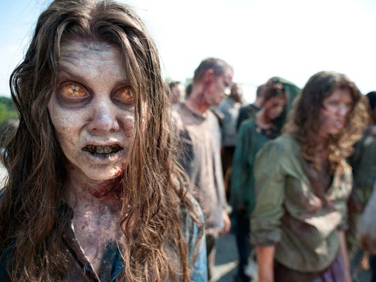 """Zombies are on the movie in the second season of the AMC series """"The Walking Dead,"""" one of TV's most popular series over the past decade."""
