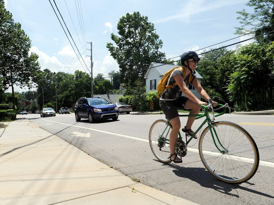 It is illegal for motorcycles to use a designated bike lane.