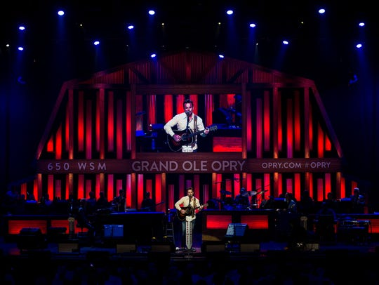 Charles Esten performs at the Grand Ole Opry in Nashville,