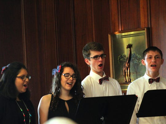 """Cumberland Valley School of Music's Student Vocal Quartet performs Sunday at CVSM's """"Christmas at Ragged Edge"""" show at Ragged Edge Inn."""