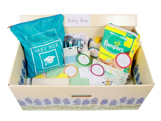 Baby Boxes include many of the necessities new parents