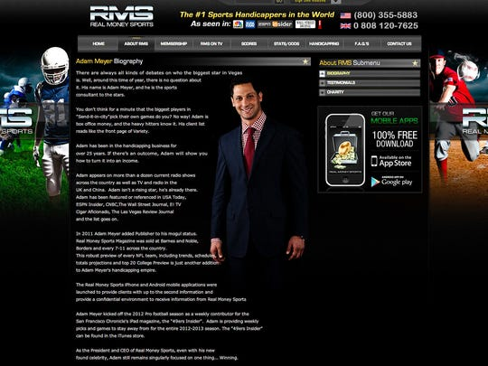 The biography page for Adam Meyer on his website, Real