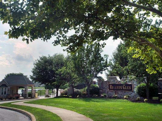 Entrance on Regents' Glen Blvd in Spring Garden Township Regents' Glen July 21, 2015.