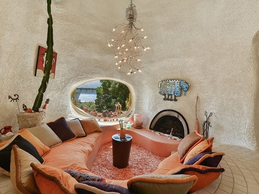 An interior view of the 'Flintstone House'