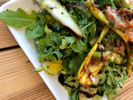 The salad special had roasted organic squash and other