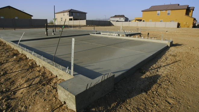 Cement foundations await construction at the Tartesso development in Buckeye in this June 11, 2008, photo. The West Valley development, which stalled during the housing crash, has been sold for $80 million to a California-based developer, according to public real-estate records.