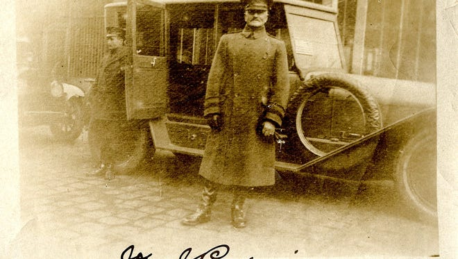 "Gen. John J. ""Black Jack"" Pershing posed for a photo for Orena English Shanks Bourne.   ."