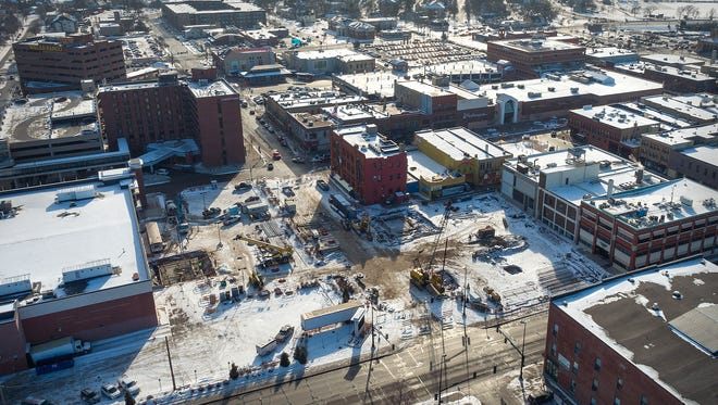 Work on a new parking ramp on Fifth Avenue in St. Cloud has caused downtown parking to be a bit trickier.