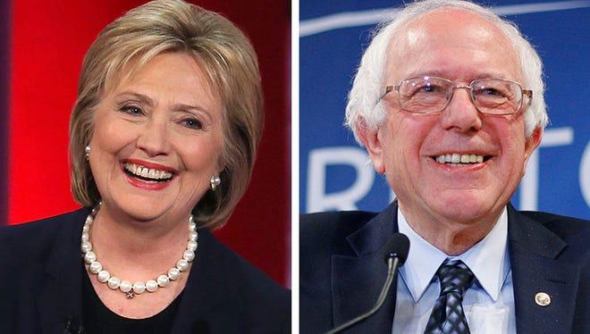 Hillary Clinton, left, and Bernie Sanders