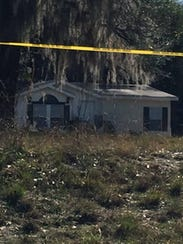 The home in White Springs, Fla., where two sisters