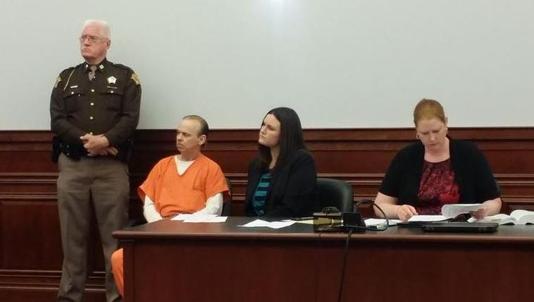 Stanley Dishon listens to testimony during his sentencing