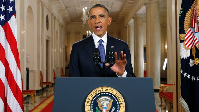President Barack Obama announces executive actions on U.S. immigration policy during a nationally televised address Thursday from the White House in Washington, D.C. Obama outlined a plan to ease the threat of deportation for about 4.7 million undocumented immigrants.