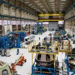 New Shepard assembly in Blue Origin's Kent, Washington facility.