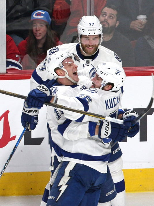 USP NHL: TAMPA BAY LIGHTNING AT MONTREAL CANADIENS S HKN MTL TBL CAN QU