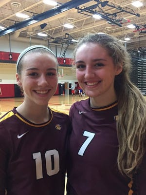 Mackenzie Gordon (left) and older sister Madison Gordon get a chance to play one year together thanks to a series of unusual circumstances.