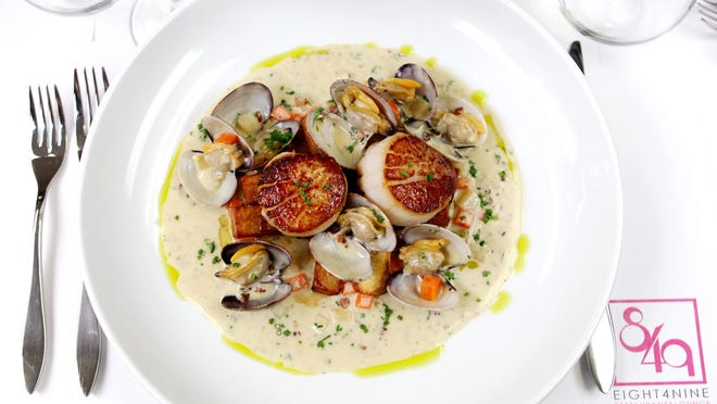The Scallops and Manila Clams from Eight4Nine Restaurant & Lounge.