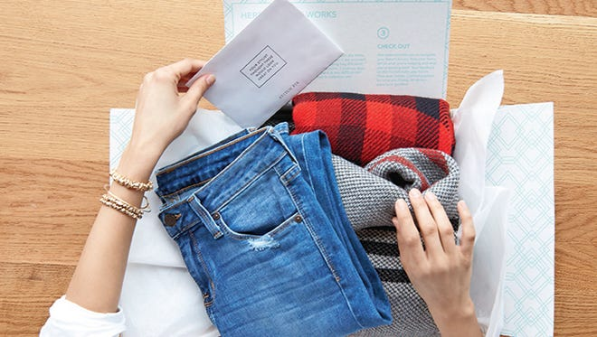 Stitch Fix stylists select five items to send based on a buyer's online profile.