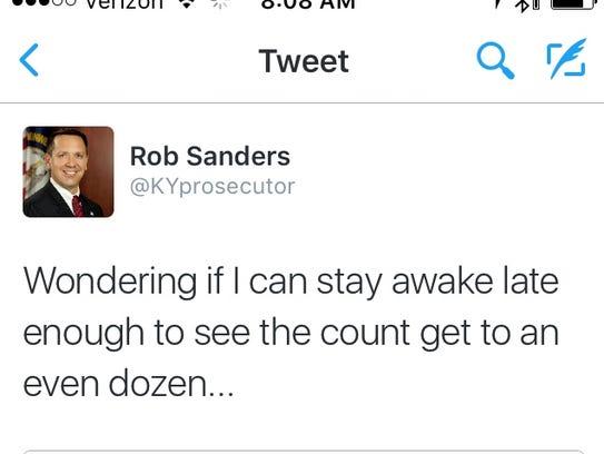 Screen capture of a deleted tweet.