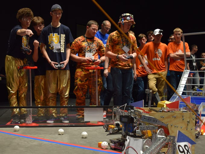 At the FIRST Tech Challenge Field One, the Red Alliance