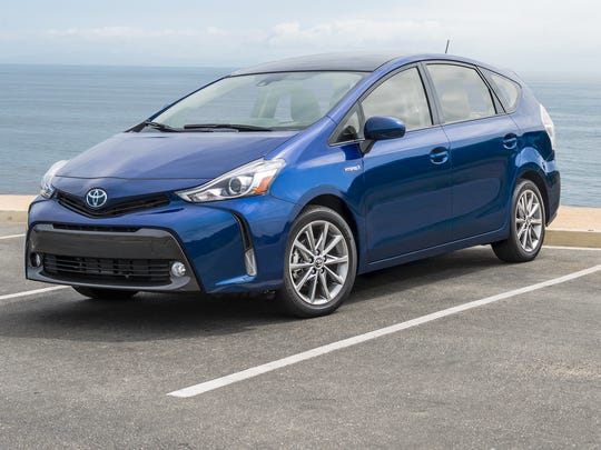 In eighth place in a five way tie, Toyota Prius V