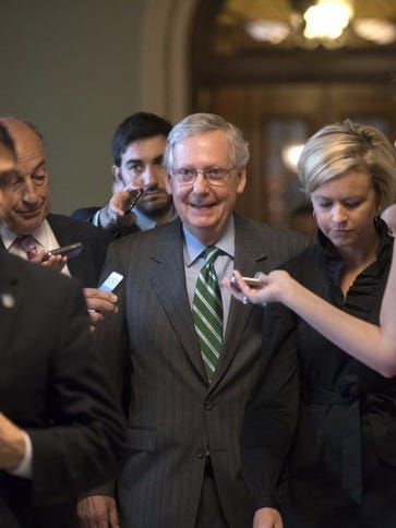 Senate Majority Leader Mitch McConnell on June 22,