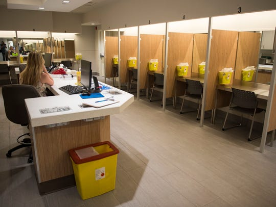The Cactus safe injection site is seen Monday, June