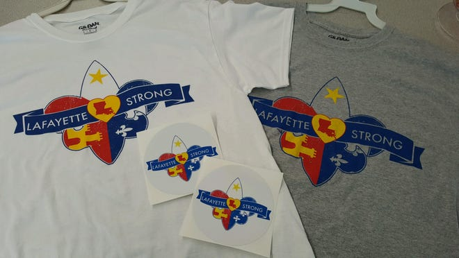 Lafayette strong T-shirts are now on sale. All proceeds will go to benefit the vitims of Thursday's shooting.