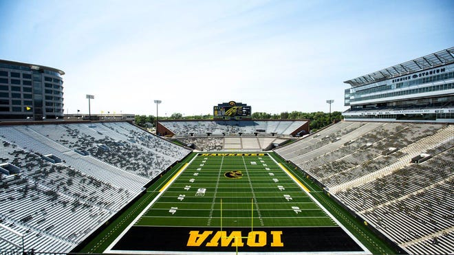 Kinnick Stadium won't be full this fall, but Iowa athletic director Gary Barta announced Thursday he is hoping to seat 10,000 to 15,000 fans at the five Hawkeye home football games.